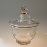Early 19th Century English Covered Hand Blown Bowl