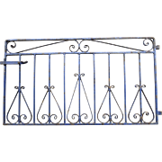 Iron Garden Gate with Original Blue Paint