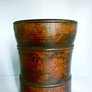 Antique Walnut Wood Mortar, Ca. 1820