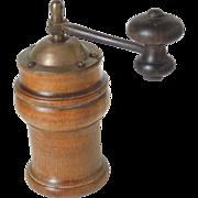 Rare Antique Boxwood French Pepper Grinder or Spice Grinder