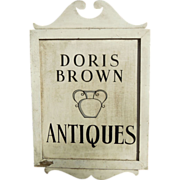 SALE Vintage Americana Trade Sign - Doris Brown Antiques