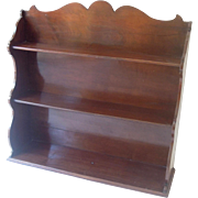 Beautiful Antique English Mahogany Shelf