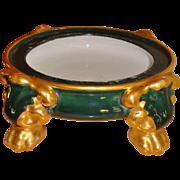 Hand Painted Porcelain Pedestal Base Plinth for Punch Bowl Jardiniere Base