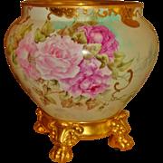 Gorgeous Hand Painted Museum Quality Antique Limoges France Porcelain Jardiniere Vase Urn ...