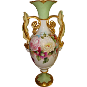 """Museum Quality Antique Royal Vienna Hand Painted Porcelain 21 3/4"""" tall  Vase Urn Gorgeou"""