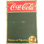 Vintage Coke Sign Drink Coca Cola Delicious And Refreshing Chalk Board Menu Restaurant 1942 ..