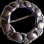 Danish STERLING SILVER designer ANDERS RING A. Ring 925s Denmark brooch