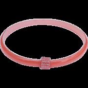 Peach & White Slim Bangle Bracelet, by Lea Stein, Paris