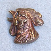 Bronze Rooster Pin, c. 1920