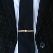 Bold Chain design Tie Bar, by Swank, c.  1950