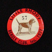 Little Rhody Beagle Club Pinback Button, 1977