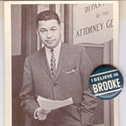 Edward W. Brooke Campaign Pin-back Button and Card, 1964