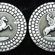 Pegasus Silver-toned Vintage Cufflinks, by Swank