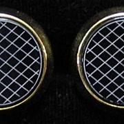 Black & White Disc Cufflinks