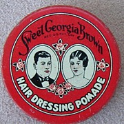 Sweet Georgia Brown Hair Dressing Pomade tin, c.1920
