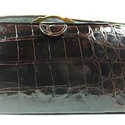 Roos Brothers, Genuine Alligator Purse Handbag, circa 1950-60s
