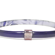 Deep Dark Purple with Lavender Accent Slim Bracelet, by Lea Stein, Paris
