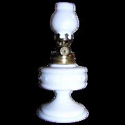 C 1977 Banner Improved Milk Glass Miniature Oil Lamp Smith I 20