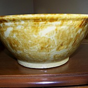 REDUCED Nice Rockingham Glaze American Bowl Circa 1880