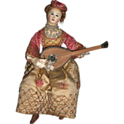 "SALE RARE French Musical Automaton ""Lady with Mandolin"" by Theroude"