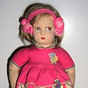 """REDUCED All original Lenci Felt Doll 13"""""""