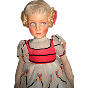 "SALE HUGE 25"" Lenci Doll ""Henrietta"" 130 Series, Circa 1935 - Layaway"