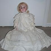 "SALE 22"" Alma Antique Baby Doll - Outstanding Original Ensemble - bisque hands"