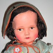 SALE Unusual antique Lenci Type Doll 24""