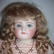 "17"" RARE Closed Mouth Antique Child Doll by Ernst Grossman"