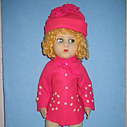 "SALE 21"" RARE ALL ORIGINAL Felt Doll by Messina Vat- Lenci Competitor"