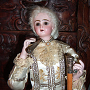 """SALE 23"""" French Antique Smoking Automaton Marquis by Leopold Lambert"""