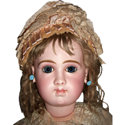 "26"" RARE Jumeau EJA Antique Doll with Antique Dress/Shoes/Wig - Layaway"