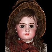 """SALE BARGAIN RARE 24"""" E11D Circa 1892 Antique Jumeau Doll by Emile Douillet - Orig. Shoes"""