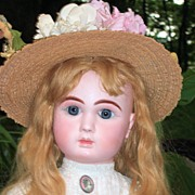 "REDUCED HUGE 32"" Steiner Fre A-20 Antique Doll Closed Mouth - Layaway - Head Repair"