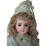 """REDUCED RARE 23"""" AT by Thuiller Circa 1888 - Antique Doll w/Stunning Couture Dress - Laya"""