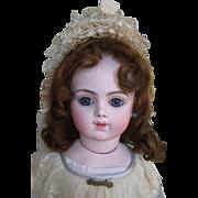 "REDUCED 24"" Bru Jne Antique Doll W/Wood Chevrot Body & Marked Bru Shoes"