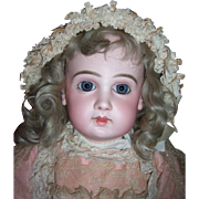 "Stunning 23"" EJ11 Antique Doll W/Original Pink Jumeau Shoes- Layaway"