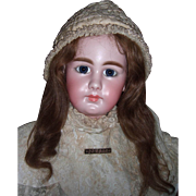 "RARE 32"" Simon & Halbig Closed Mouth 949 Antique Doll - Layaway"