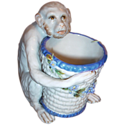 SALE Antique Monkey - Figurine w/Bowl