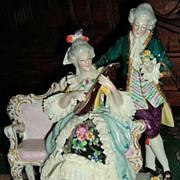 SALE Dresden Lace Figurine - Sitzendorf