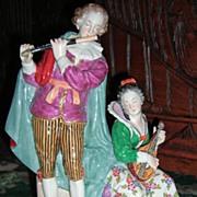 "Large Ernst Bohne Dresden Figurine 9 1/2"" Tall!"