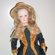 "REDUCED 20"" Antique French Fashion Doll - Outstanding Antique Clothing - layaway"