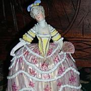 Lovely Dresden Figurine in Crinoline Dress