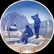 "SALE 1950 Bing & Grondahl Christmas Jubilee Plate ~ ""Eskimos "" by Achtin Friis"