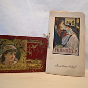 SALE 1886 Autograph Album with Gypsy ( To Mary Rushville Mo)  & The Beauty of Friendship book