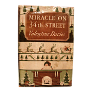 SALE Miracle on 34th Street written by Valentine Davis, Published in 1947 by Harcourt, Brace a
