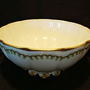 SALE Beautiful Limoges Porcelain Master Serving Bowl ~ Factory Decorated ~ Haviland France 188