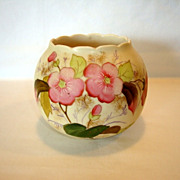 SALE Beautiful Porcelain Rose Bowl ~ Hand Painted with Pink Flowers ~ Decorators Mark Unknown