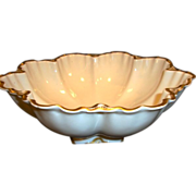 SALE Awesome Serving Bowl ~ Limoges France ~ White and Gold ~  Marcelline Mold ~ ...