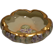 SALE Gorgeous Porcelain  Footed Dish ~ Hand Painted with Violets  By Kriesche ~ Pickard Decora